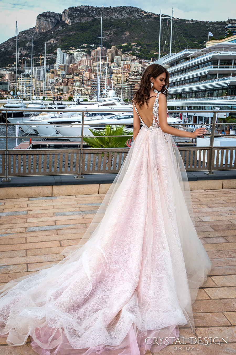 crystal-design-2017-bridal-sleeveless-v-neck-heavily-embellished-bodice-tulle-skirt-princess-romantic-blush-color-a-line-wedding-dress-low-back-long-royal-train-andrea-bv
