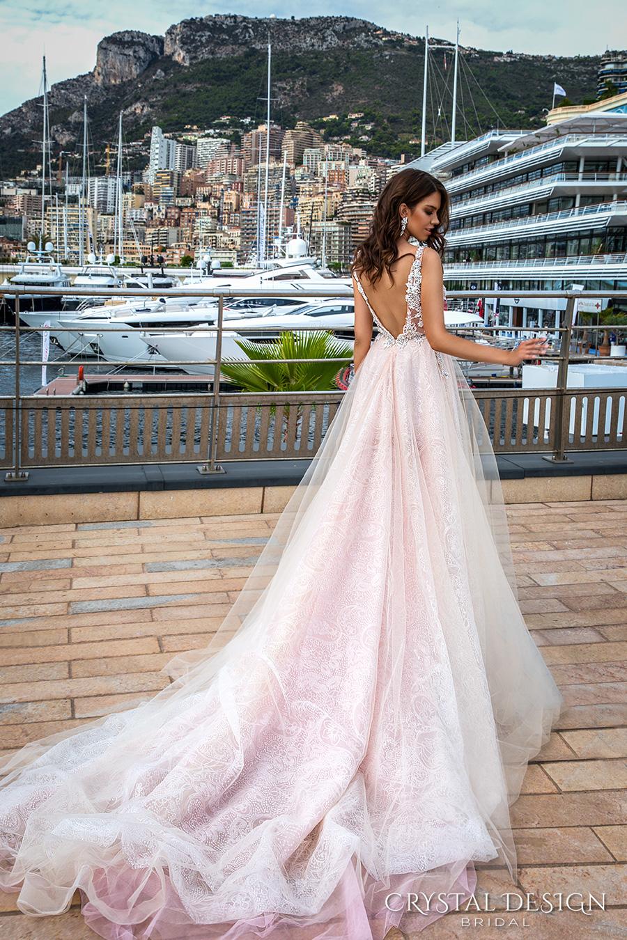 crystal-design-2017-bridal-sleeveless-v-neck-heavily-embellished-bodice-tulle-skirt-princess-romantic-blush-color-a-line-wedding-dress-low-back-long-royal-train-andrea-bv